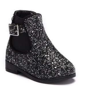 Bebe toddler girls chunky glitter boots